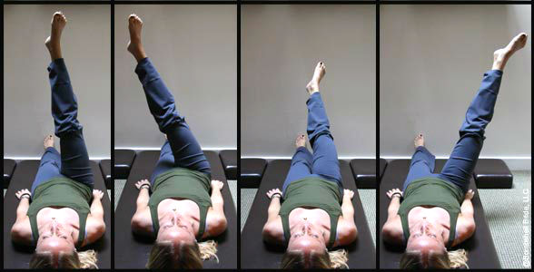 The One Leg Circle is excellent for toning and stretching your thighs and is one of the Pilates core exercises.
